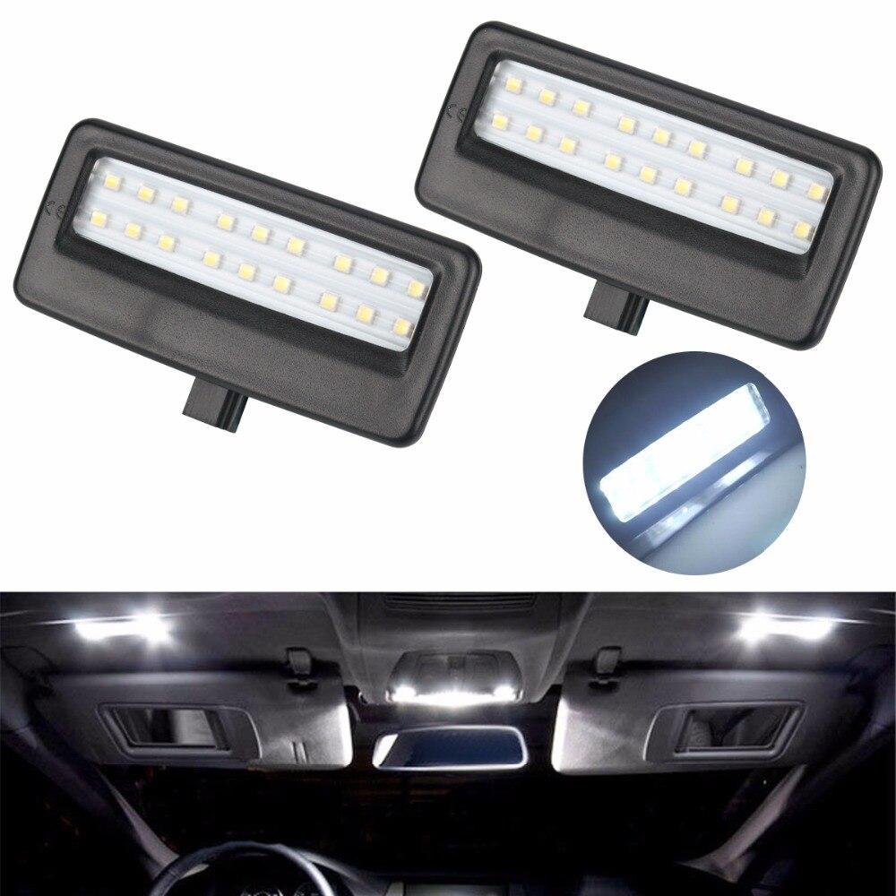 2pcs car styling auto led vanity mirror lamp reading lights bulbs for bmw f10 f11 f07