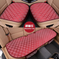 KKYSYELVA Universal Leather Car Seat Cover Cushion Protection Pad Mat Voiture Auto Seat Protector 52x49cm