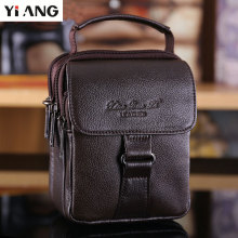 YIANG Brand Men Casual Messenger Bag Men's Genuine Leather Business Bag Mini Shoulder Bags Waist Bag Male Handbags For Men