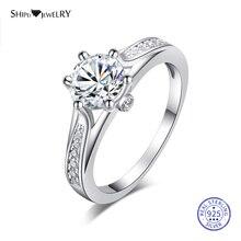 цена на Shipei Genuine 2ct Moissanite Ring for Women Fine Jewelry 100% 925 Sterling Silver Engagement Wedding Ring Anniversary Gift