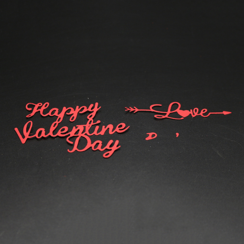 Bi fujian scrapbooking Happy Valentines Day love shape Metal steel cutting love letter shape Book photo album art card Die cut
