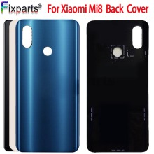 New Xiaomi Mi 8 Back Battery Cover Mi8 Glass Panel For Lite Rear Door Case