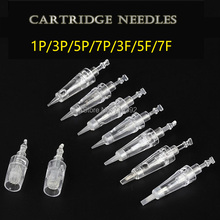 50 stücke (Bajonett port) Patronen Nadeln Sterilisiert Permanent Make Up Maschine Nadeln Für Tattoo Augenbraue Liner Lippen Versorgung