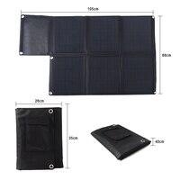 60 Вт Портативный Панели солнечные автомобиля Батарея Зарядное устройство sunpower с двойной Выход 5 В USB и 18 В DC Смарт заряда для телефона Планше