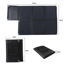 60w Portable Solar Panel Car Battery Charger SunPower with Dual Output 5V USB and 18V DC