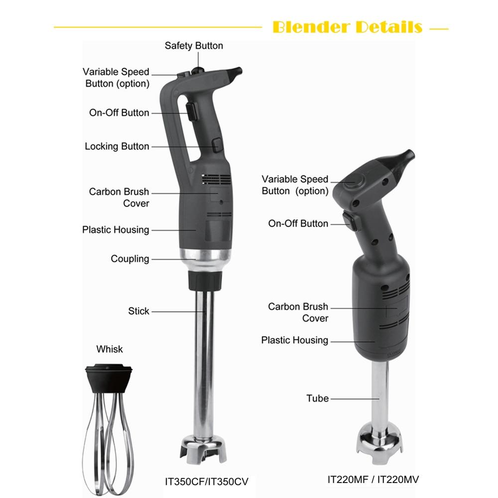 ITOP Commercial Juicer Blender Immersion Food Mixer 500W Professional Kitchen Appliance Adjustable Speed EU/US/UK Plug