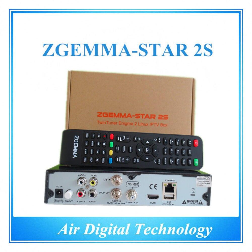 2pcs/lot Zgemma Star 2S Satellite Receiver with internet
