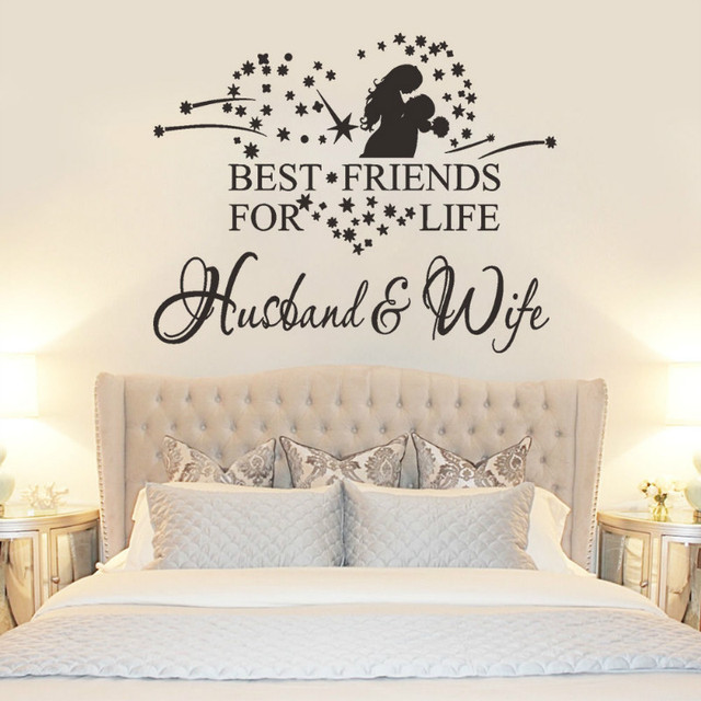 Romantic Husband Wife Heart Wall Stickers Best Friends For Life