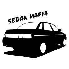 CS-213#14.7*20cm sedan mafia 2110 funny car sticker and decal silver/black vinyl auto stickers