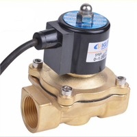 AC220V/110V DC24V/12V NPT 1/2,3/4,1 Brass Electric Solenoid Valve for Water Oil Fountain Waterproof IP65 Normally Closed
