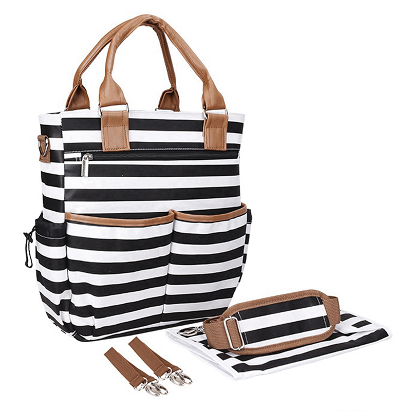 Multi-purpose Large Capacity Diaper Bag Mommy Maternity stripe Nappy Bags Baby Travel Nursing Bag Baby Care For Dad and Mom diaper bag mummy maternity nappy bags large capacity baby travel backpack designer nursing bag baby care for dad and mom 894286