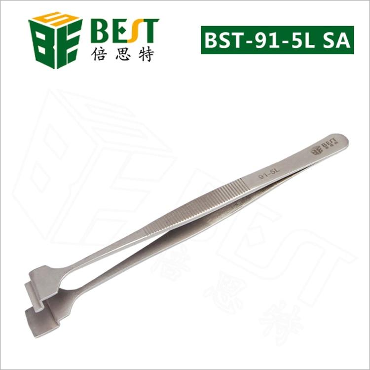 Nerūdijančio plieno krištolo plokštelių pincetas BEST-91-4L, - Rankiniai įrankiai - Nuotrauka 3