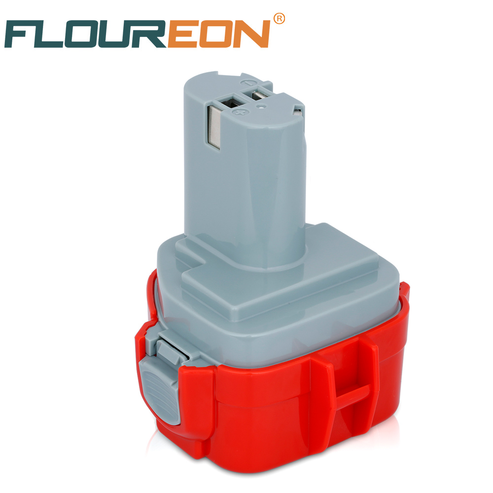 FLOUREON For Makita Mak 12V 3000mAh Ni-MH Rechargeable Battery Pack Power Tools Battery Replacement Cordless Drill 1050D 6270D 24v 3000mah 3 0ah rechargeable battery pack power tools batteries cordless drill ni mh battery for makita bh2430 bh2433