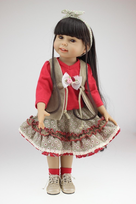 """18 """"Silikon vinyl Reborn babypuppen sehr weich schlafende mädchen puppe handgemachten lebensechte modische baby geschenk neue design-in Puppen aus Spielzeug und Hobbys bei  Gruppe 1"""