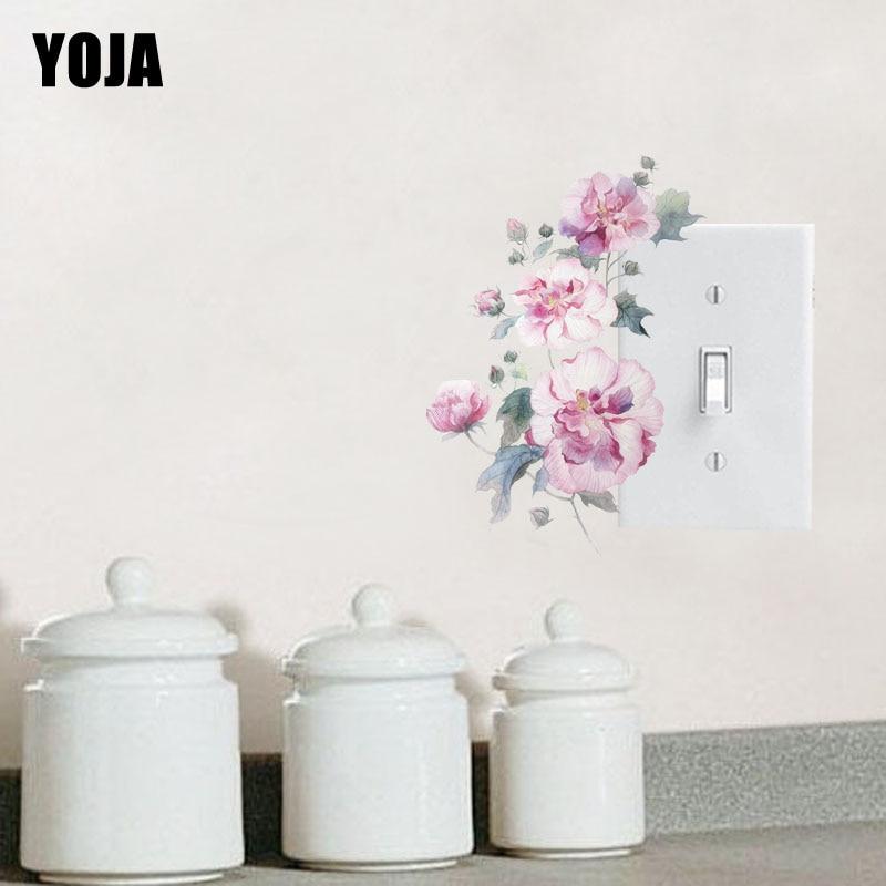 YOJA Switch Sticker Cute Pretty Plum European Flower PVC Room Decorative Fashion Style Wall Decal 15SS0030