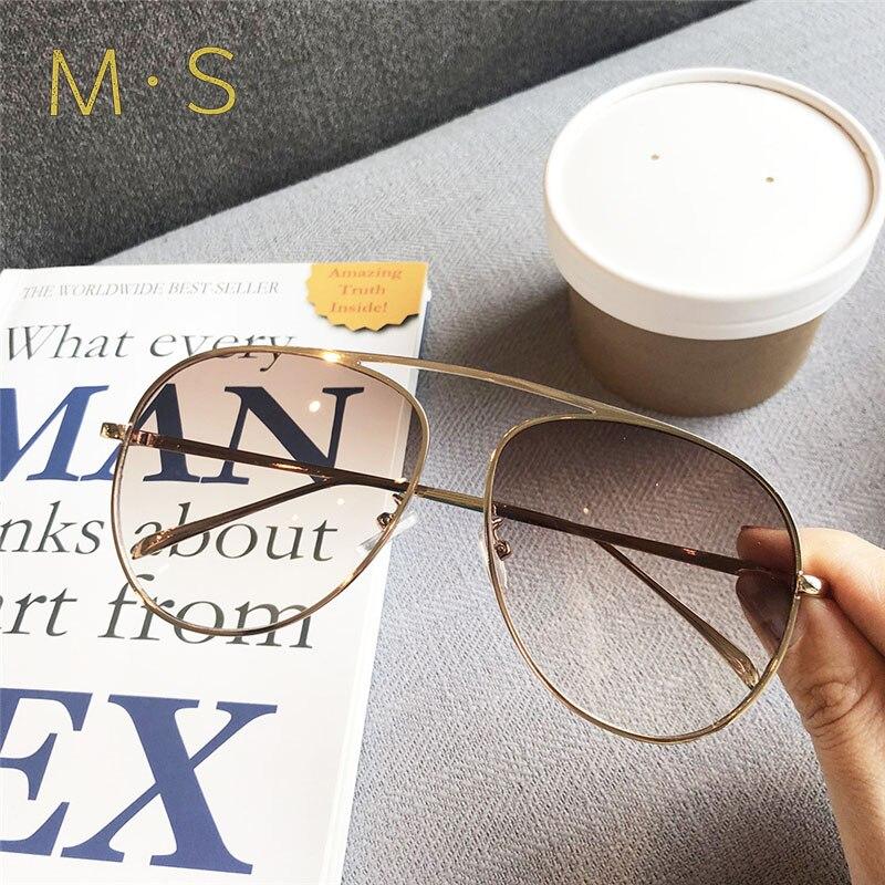 MS 2019 Female Sunglasses Brand Designer Sunglasses Pilot Sun Glasses Fashion Wo