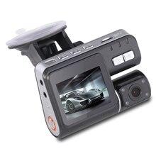 2.0 pulgadas HD 1080 P LCD de Doble Lente Vehículo DVR Cámara Grabadora de Vídeo Dashboard Cam G-sensor Noche visión rociada leva