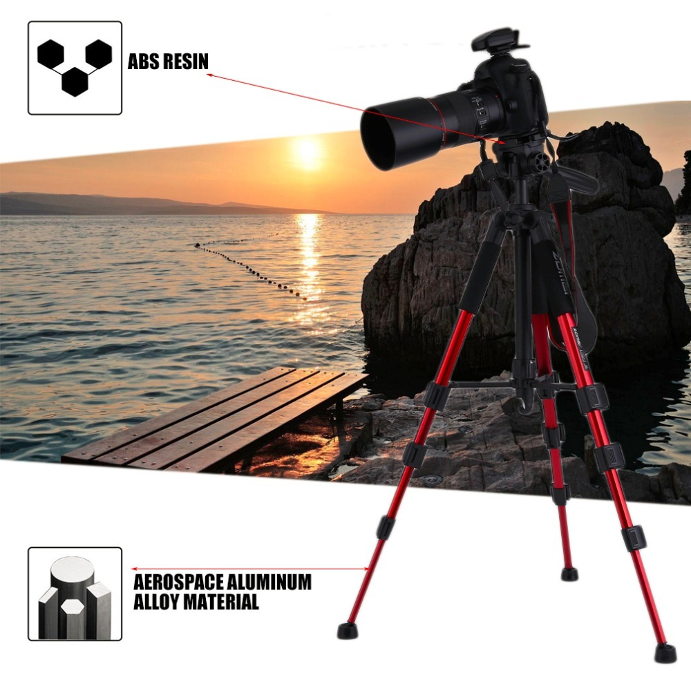 Zomei Q111 Heavy Duty Aluminium Camera Tripod Stand For SLR Camera with Carrying bag  Drop Shipping Portable Camera AccessoriesZomei Q111 Heavy Duty Aluminium Camera Tripod Stand For SLR Camera with Carrying bag  Drop Shipping Portable Camera Accessories