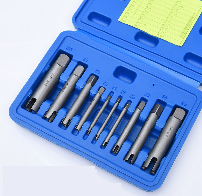 M4 M24 Broken Tap Extractor Guide Set Easy Out Broken Wire Screw Remover Tools Screw Extractor Wrench Set Drill Bit