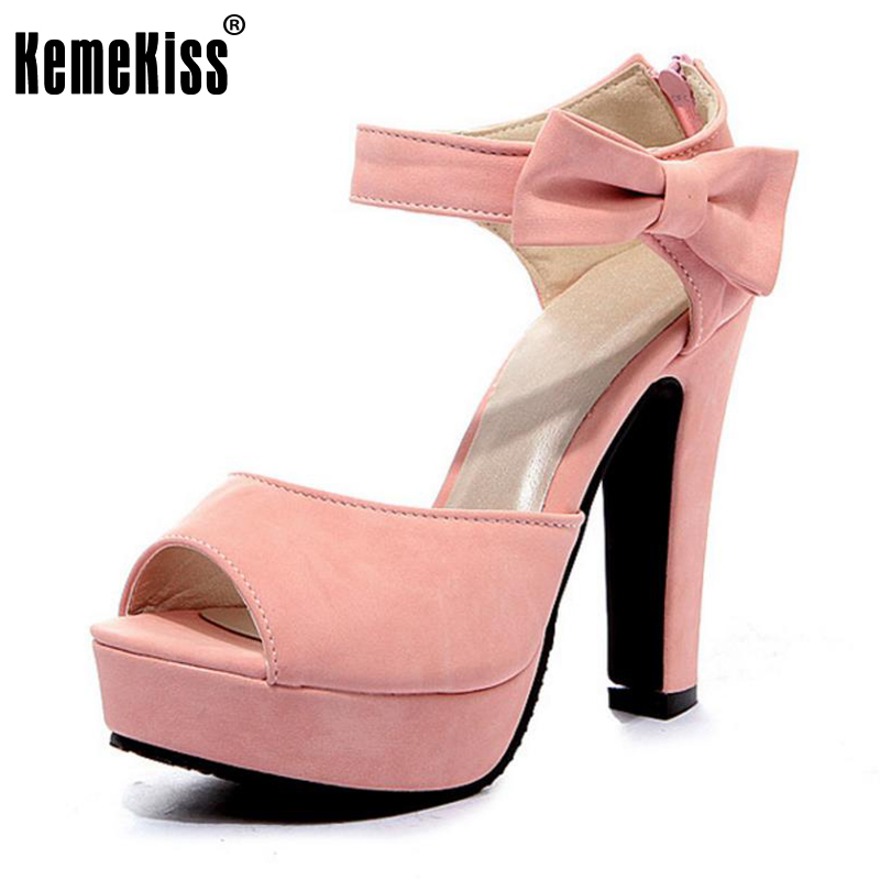 Size 31-43 New Arrived Sandals Ladies High Heel Peep toe Ankle Strap Sweet Thick High Heel Sandals Platform Shoes Women Sandals women sandals new summer peep toe ankle strap thick high heel sandals platform high quality casual fashion shoes size 31 43