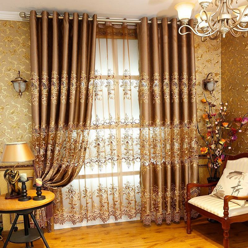 curtains for living room luxury curtain for bedroom hollow blackout