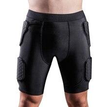 Для взрослых мужчин мягкие Компрессионные шорты хип и защита для бедер для футбола, пейнтбола, баскетбола, катания на коньках, футбола, хоккея