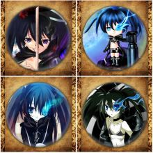 Japanese Anime BLACK ROCK SHOOTER Display Badge Fashion Cartoon Figure Kuroi Mato Brooches Pin Jewelry Accessories japanese anime bleach display badge fashion cartoon figure kurosaki ichigo brooches pin jewelry accessories gift