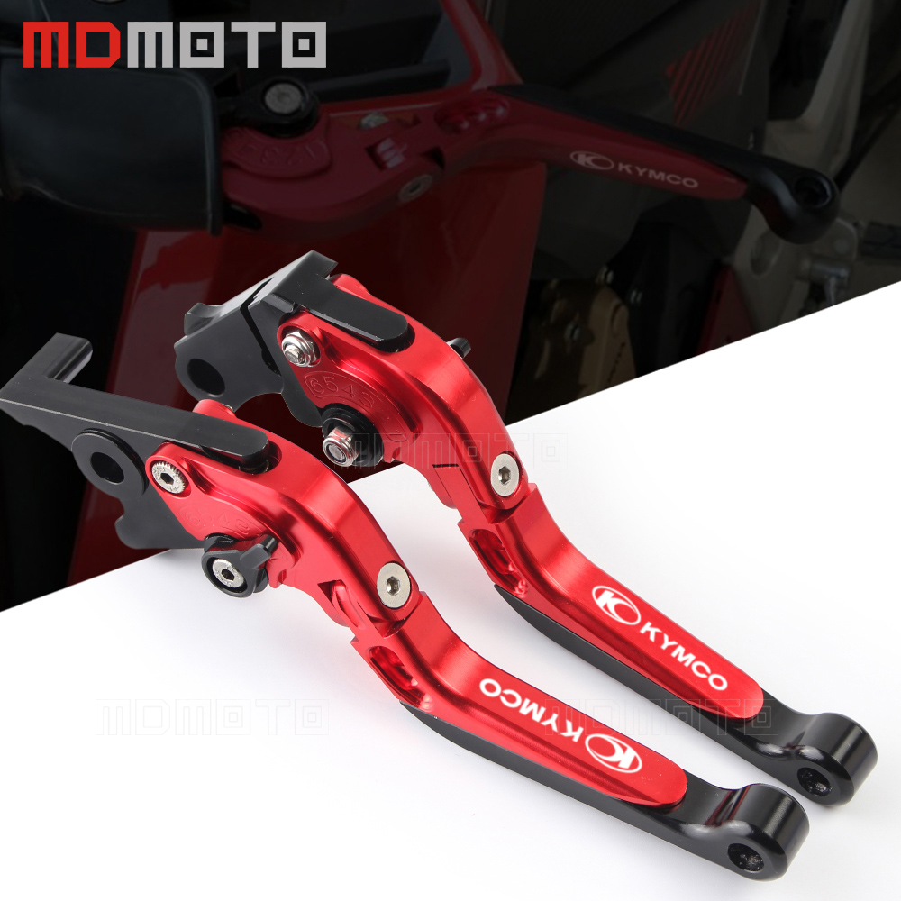 CNC brake lever clutch For KYMCO DownTown 350 300i Xciting 250 CK250T 300 CK300T ABS 400 500RI S400 K-XCT 300 NIKITA 200/300I cnc adjustable clutch brake levers set short long 2 style 10 colors fit for kymco downtown 125 200 300 350