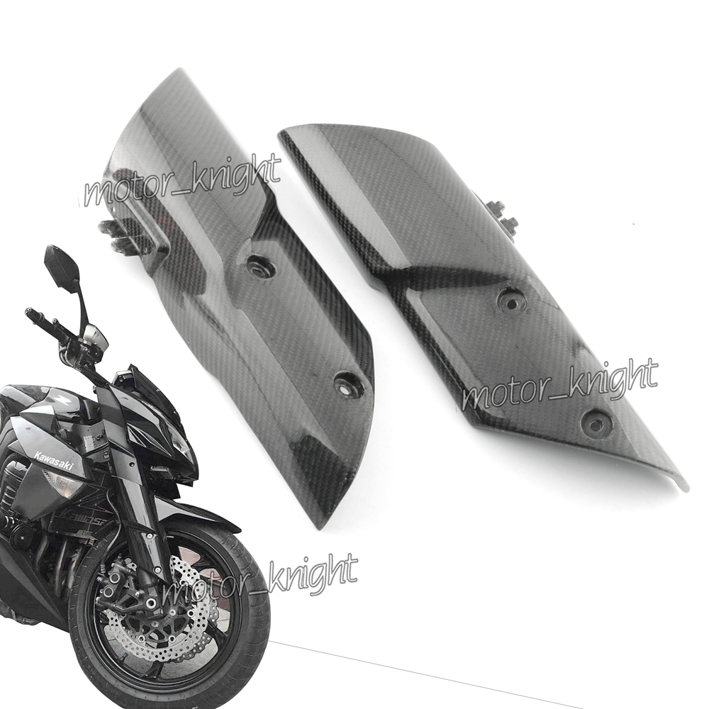 Motorcycle Accessories Carbon Fiber Front Fender Fork Suspension Cover Fairing Cowling For Kawasaki Z1000 2010 2011 2012 2013
