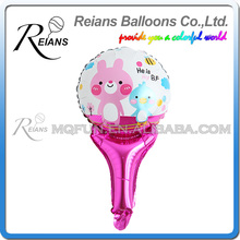 50pcs REIANS 51cm cute cartoon children Animal Rabbit strip handhold stick Party birthday aluminum foil balloon party supplies