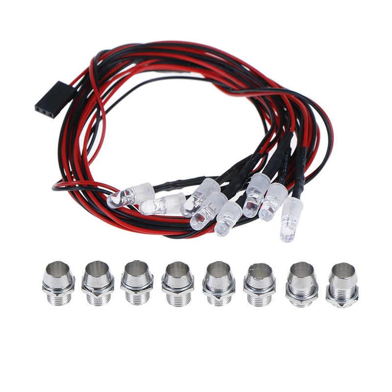 5mm RC coche piezas de actualización GoolRC 4/8 LED blanco/rojo Color RC coche LED LUZ DE REVO/Jato T-MAXX TRAXXAS HSP HPI RC coches
