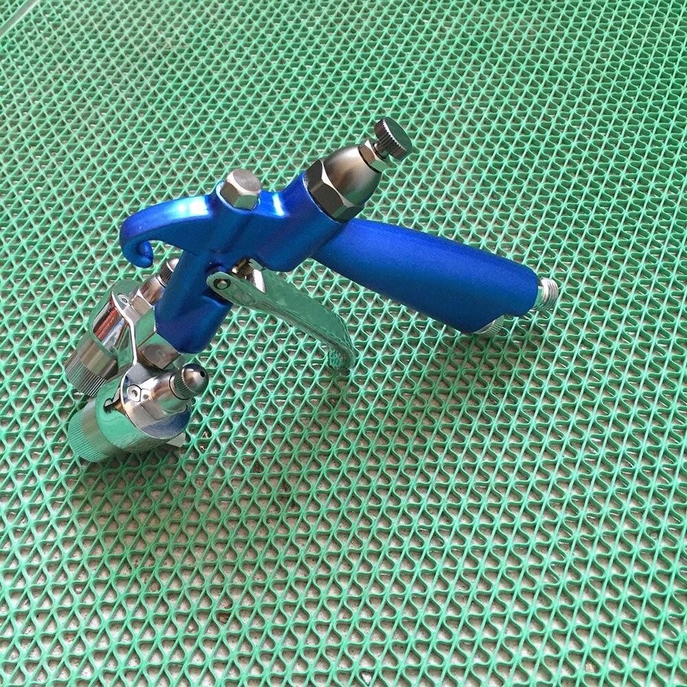 SAT1201 pneumatic powder coating double head pressure feed spray gun dual nozzle air paint spray gun professional air paint gun