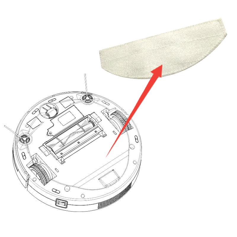 Mop  for Eworld M884 Nanofiber Mob Cloth Robot Vacuum Cleaner Robotic Vacuum Cleaner for Home free shipping