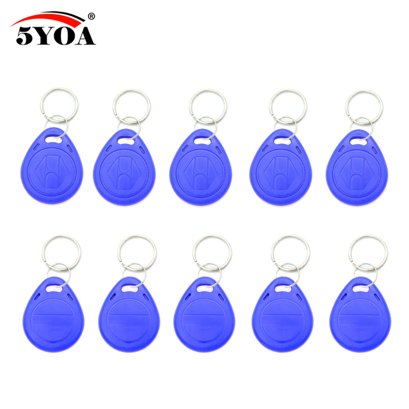 100pcs Blue EM4305 T5577 Blank Key Tag RFID Chip Ring Tags Keytag 125 khz Copy Rewritable Writable Rewrite Duplicate 125khz