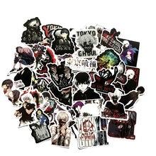 50 adet japonya Anime Tokyo Ghoul için bagaj Laptop kaykay bisiklet sırt çantası çıkartması Pegatinas oyuncak çıkartmalar çocuk hediye için F4