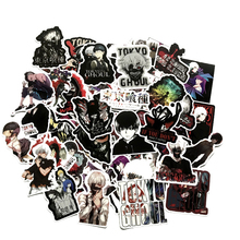 50pcs Japan Anime Tokyo Ghoul For Luggage Laptop Skateboard Bicycle Backpack Decal Pegatinas Toy Stickers For Children Gift F4