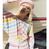 Cosmicchic женский подиум с капюшоном Радужный вязаный кардиган 100% кашемировый полосатый кардиган свитер Rebecas Mujer