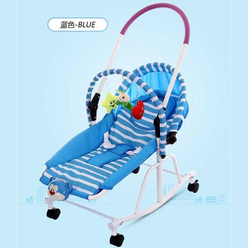 Multi-fonction nouveau-né bébé chaise berçante berceau bébé marcheur poussette bébé videur chaise chaise longue bébé balançoire fauteuil roulant 0-19 M - 4