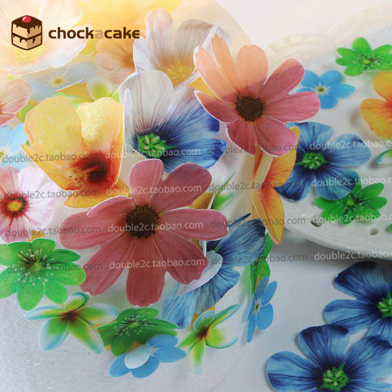 edible flowers for cake decorations37pcs wafer flowers cake idea decorationedible paper for - Cheap Decorations