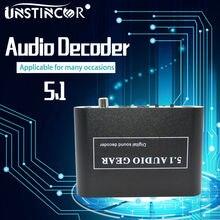 Unstincer 5.1 ch аудио декодер SPDIF коаксиальный RCA DTS AC3 цифровой до 5.1 Усилители домашние аналоговый преобразователь для PS3, dvd-плеер, Xbox
