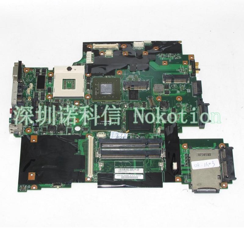 NOKOTION 42W7653 For lenovo thinkpad T61P laptop motherboard 44C3931 42W7877 15.4 965PM DDR2 geforce FX570M nokotion for lenovo g455 laptop motherboard la 5971p hd 4250m ddr2