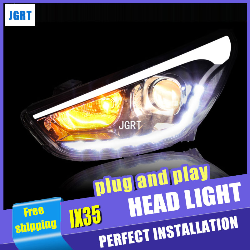 car styling For Hyundai IX35 headlights U angel eyes DRL 2010-2013 For Hyundai IX35 LED light bar DRL Q5 bi xenon lens h7 xenon плита электрическая kaiser hc 52010 r moire