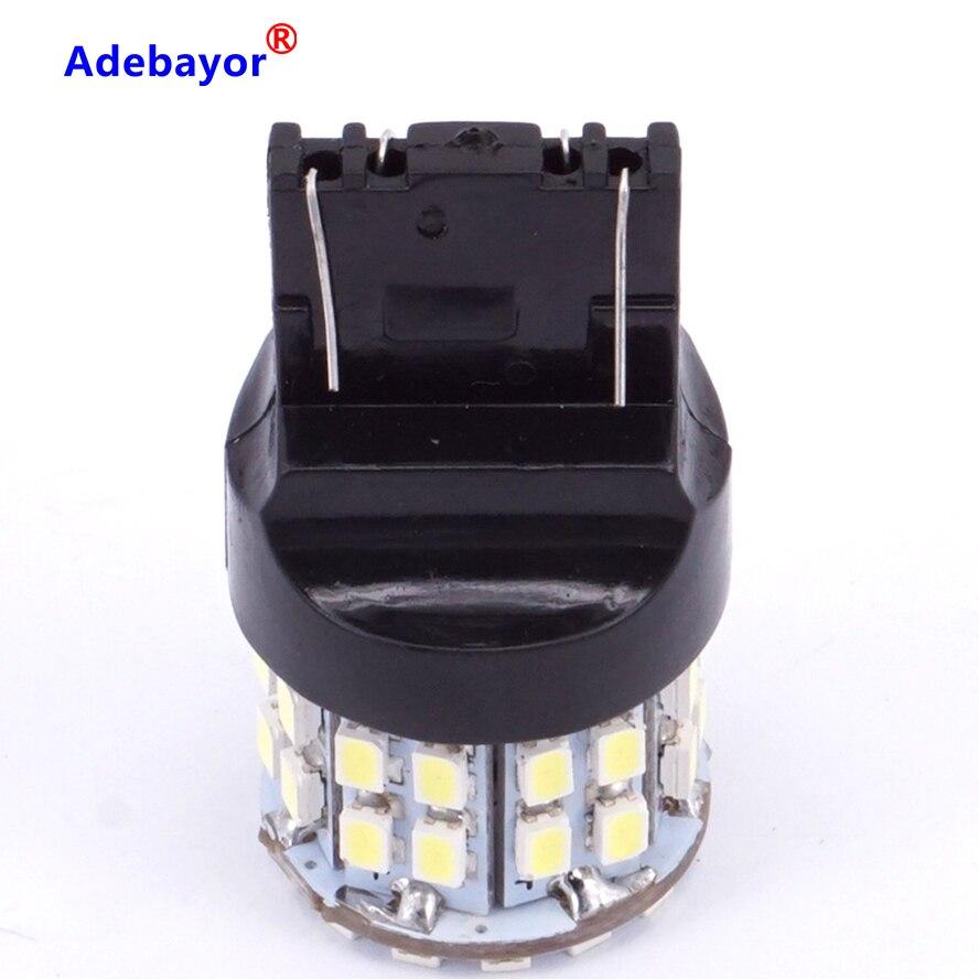 30 X T20 7443 W21/5 Вт лампочки для стоп-сигналов 3020 50 светодиодный 1206 SMD 7440, двойная интенсивность башня задние стоп-сигнал заднего хода лампы белого цвета