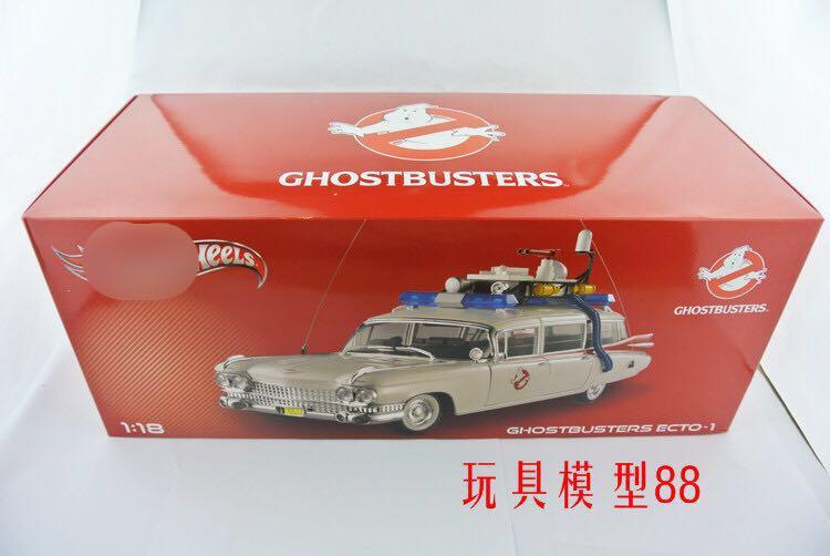 1:18 wielen 1959 Cadillac ECTO Ghostbusters GHOSTBUSTERS Modellen Originele Hoge Simulatie Model Auto Nieuw In Voorraad-in Diecast & Speelgoed auto´s van Speelgoed & Hobbies op  Groep 1