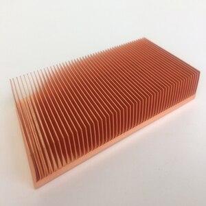 Image 5 - المصنع مباشرة توريد 100x50x15 مللي متر النحاس النقي بالوعة الحرارة Cu1100 سكيفينج مشتت حراري بفواصل