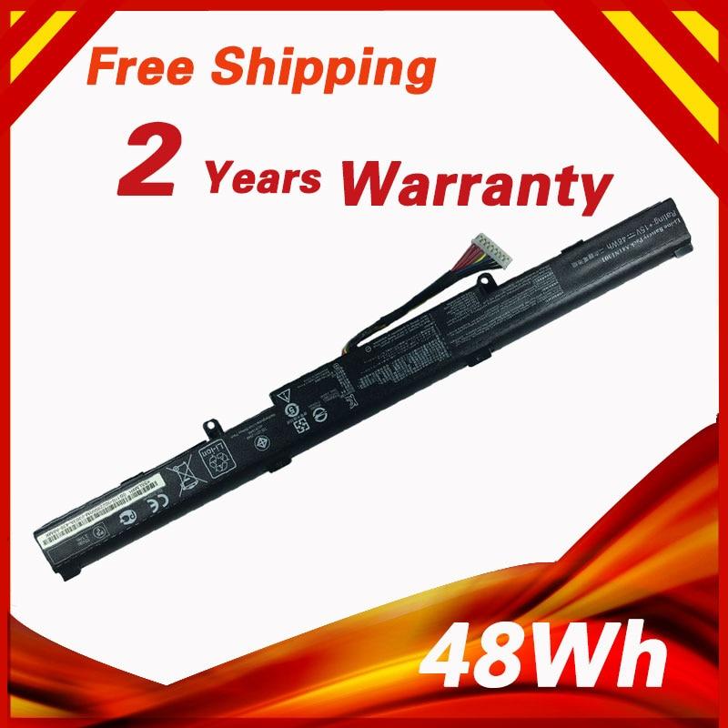 48Wh Laptop Battery for ASUS A41N1501 GL752JW GL752 GL752VL GL752VW N552 N552V N552VW N752 N752V N752VW Series free shipping new 11 4v 48wh genuine b31n1407 battery for asus b451 b451ja b451ja 1a series laptop