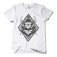 Print Tee Men Short Sleeve Clothing Butterfly Skull T Shirt Fashion Print Indie Urban Design Mens