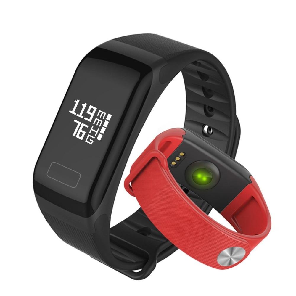 New Smart Band Blood Pressure Watch F1 Smart Bracelet Watch Heart Rate Monitor SmartBand Wireless Fitness
