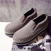 Women's Platform Flats Loafers Genuine Leather Slip-on Brogues Shoes for Women Female Footwear Brand Designer Moccasins Calzados