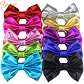 10pcs/lot 5'' Big Messy Metallic Glitter Bow WITHOUT Hair Clips,Gold/Silver Metallic Bow For Baby Kids Headband Glitter Hair bow
